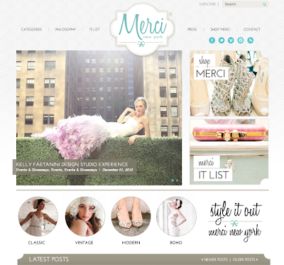 New Merci New York blog launches today