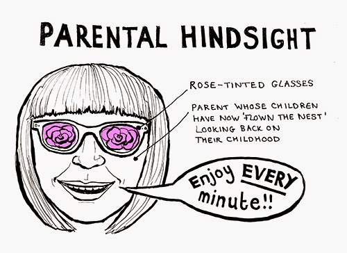 parental hindsight, hindsight, mother diaries, parenting blog, funny parenting blog, mother blogger, parenting, motherhood, rose-tinted glasses