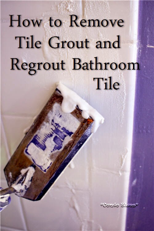 When Husband Went Out Of Town On Business I Figured It Was Time To Do Remove The Bathroom Grout And Add New Grout To The Tile