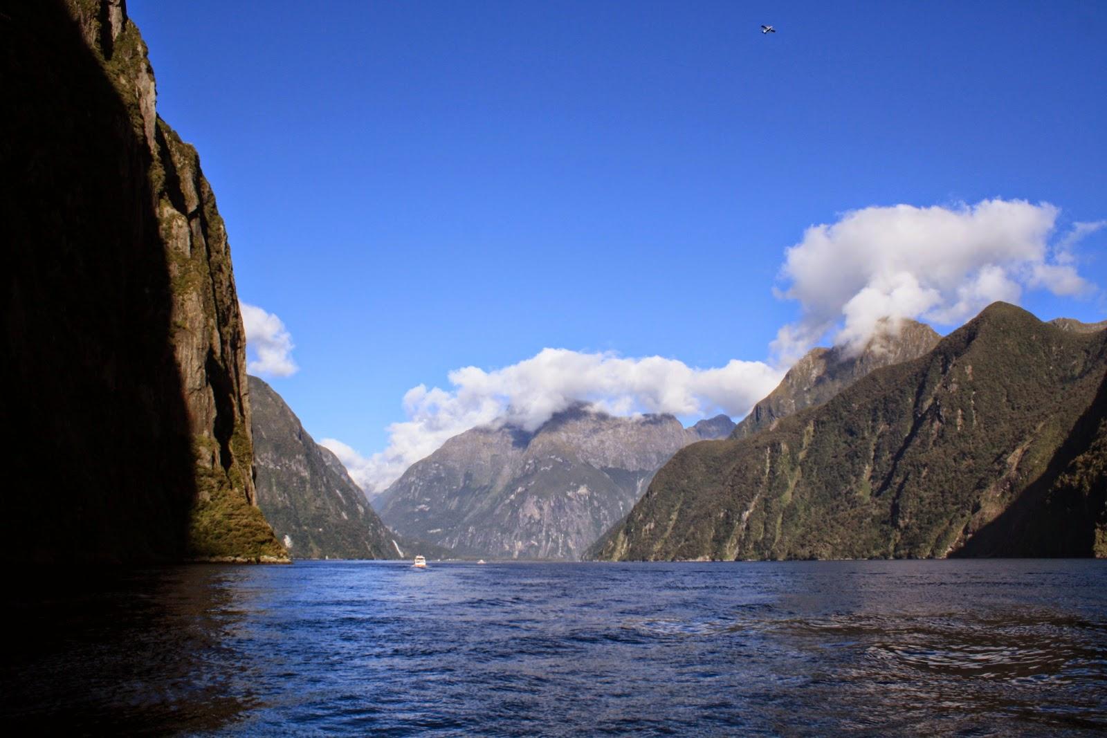 Pretty hills, Milford Sound.