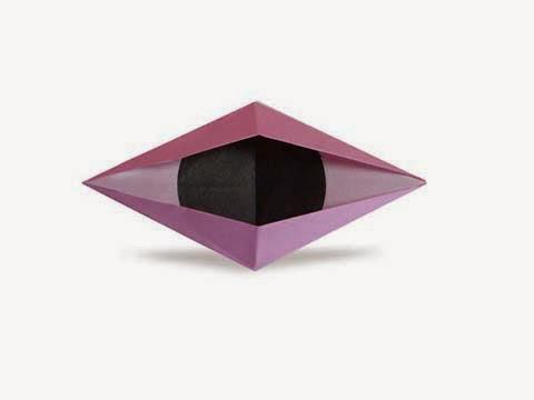 Cách gấp, xếp con mắt chớp bằng giấy origami - Video hướng dẫn xếp hình - How to make a Blinking Eyes