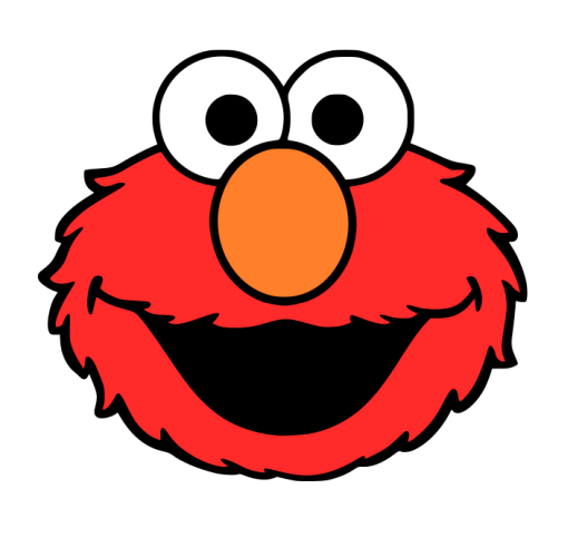 Challenger image for printable elmo face