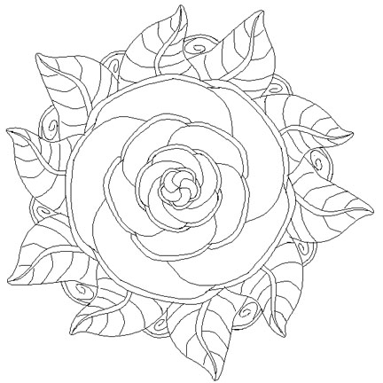 Mandala Madness A Rose Mandala For Coloring