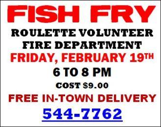 2-19 Fish Fry @ Roulette VFD