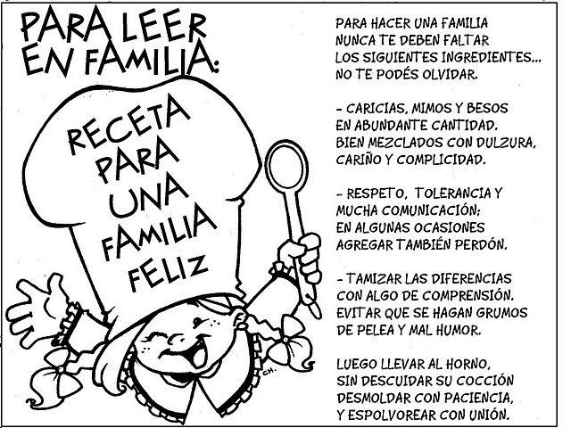 MENSAJES E IM  GENES DE FAMILIAS PARA COLOREAR