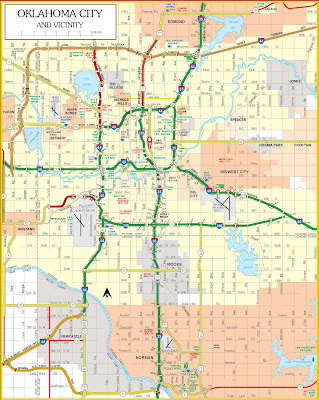 Metro Oklahoma City Map