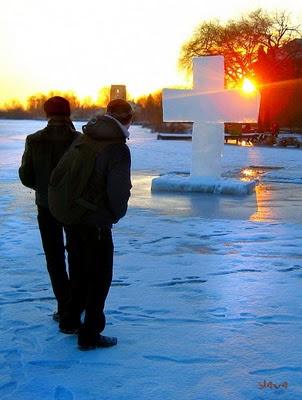 Старкон, зима, річка, лід