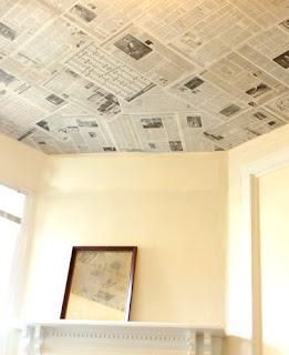 cara membuat kerajinan wallpaper art dari koran bekas