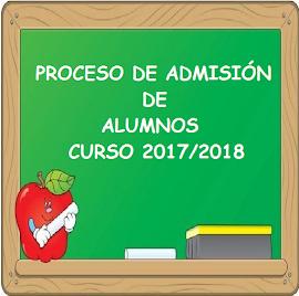 PROCESO DE ADMISIÓN CURSO 2017/2018