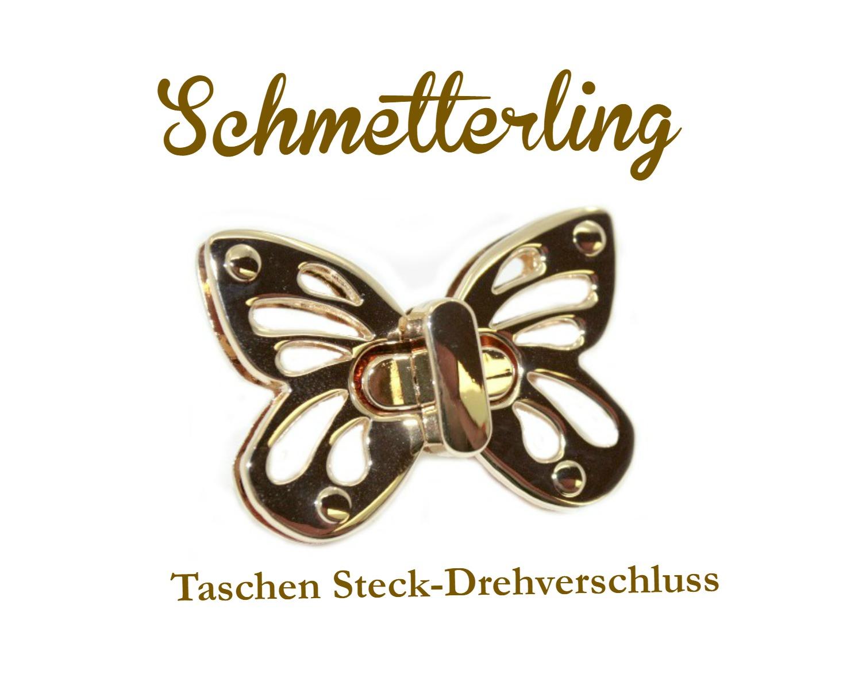 Taschen Steck-Drehverschluss bei Dawanda http://de.dawanda.com/product/80902739-Taschenverschluss-Drehverschluss-Schmetterling
