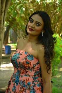 Nikitha Narayan in a Strapless Shoulderless Sleeveless Evening Gown Spicy Pics