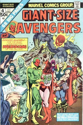 Giant-Size Avengers #4, Dormammu. The Vision marries the Scarlet Witch. Mantis marries a tree. The conclusion of the Celestial Madonna Saga