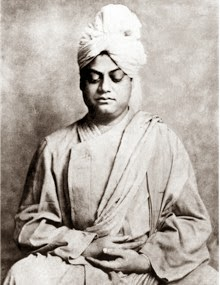 Swami Vivekananda sitting in meditation