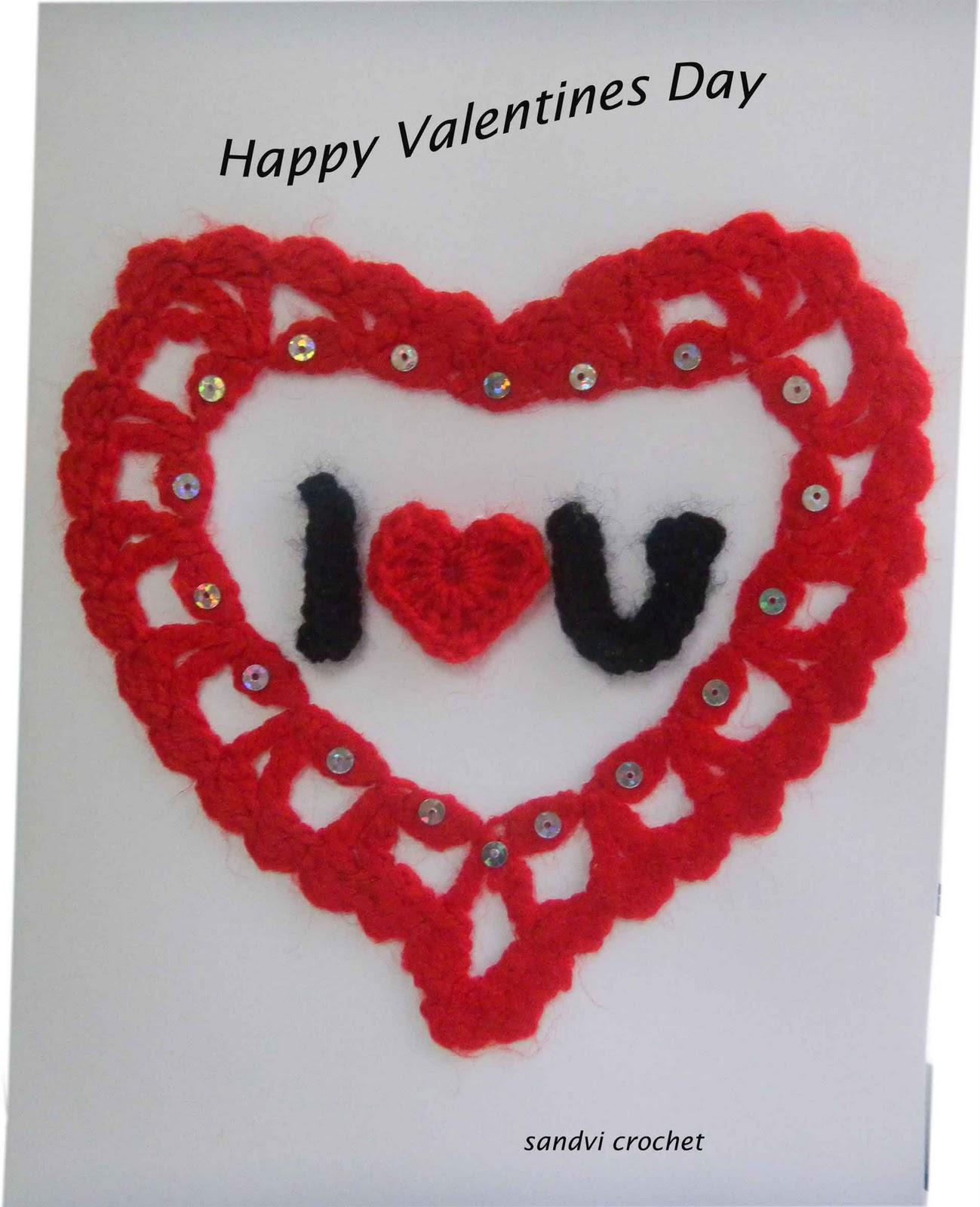 Crocheting For Valentines Day : sandvicrochet: Crochet Card for Valentines Day