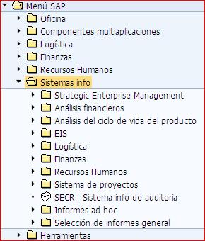 Informes en el sistema info