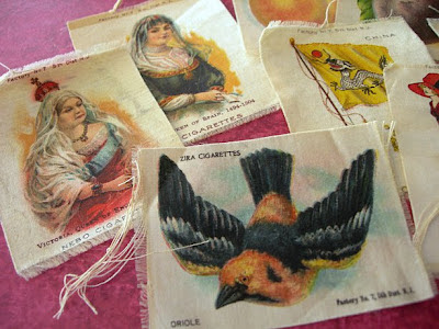 Vintage and antique tobacco silks
