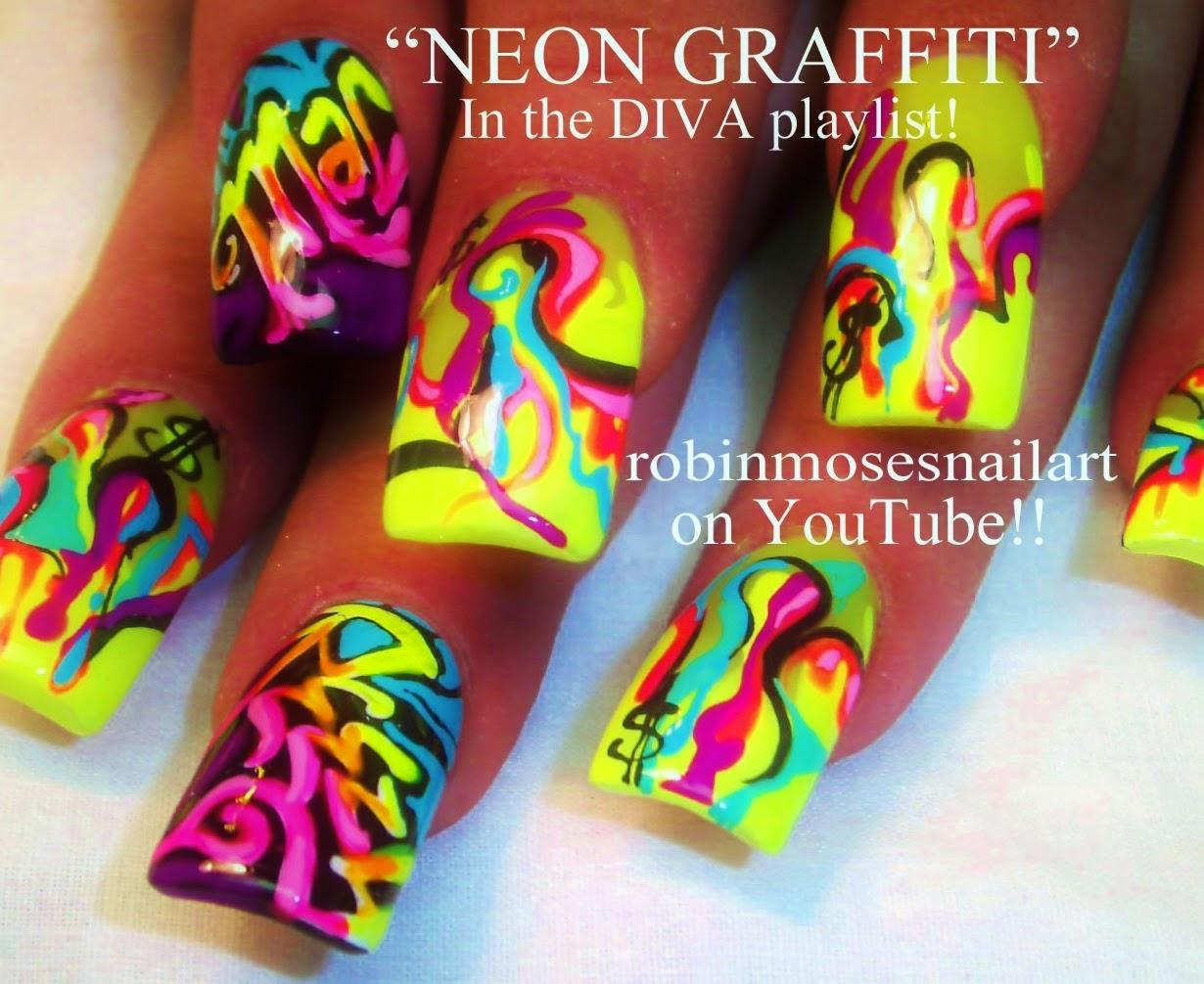 Nail Art By Robin Moses Graffiti Graffiti Nail Art Graffiti