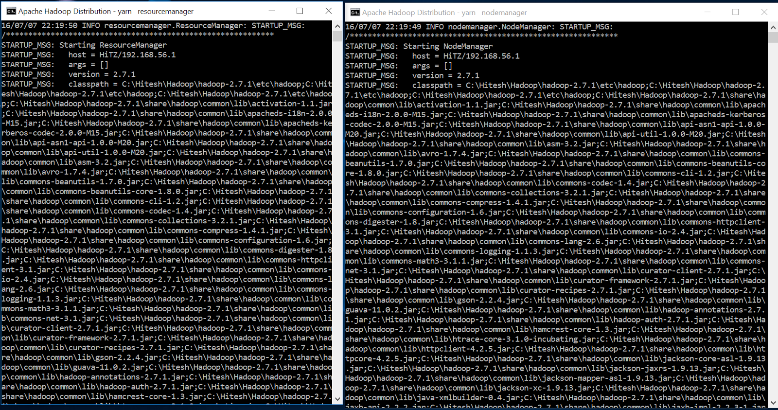Apache hadoop 271 installation on windows 10 home machine using make sure yarn starts without any errors baditri Gallery