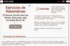 Vitutor: cursos online y ejercicios interactivos de matemáticas, inglés y otras materias