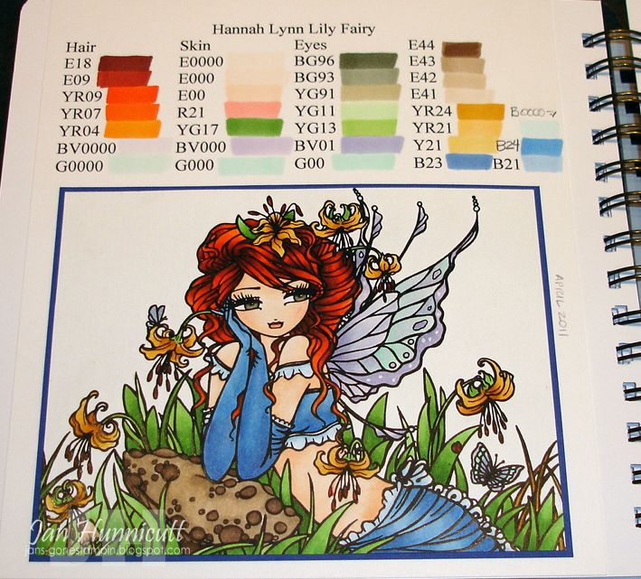 Simply Handcrafted: Copic Coloring Book for a Copical Blog Hop