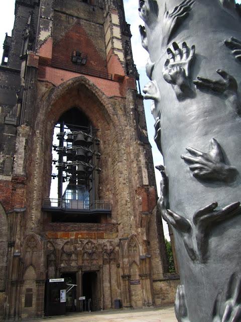 The Church of St. Nikolai Tower Hamburg, Germany.