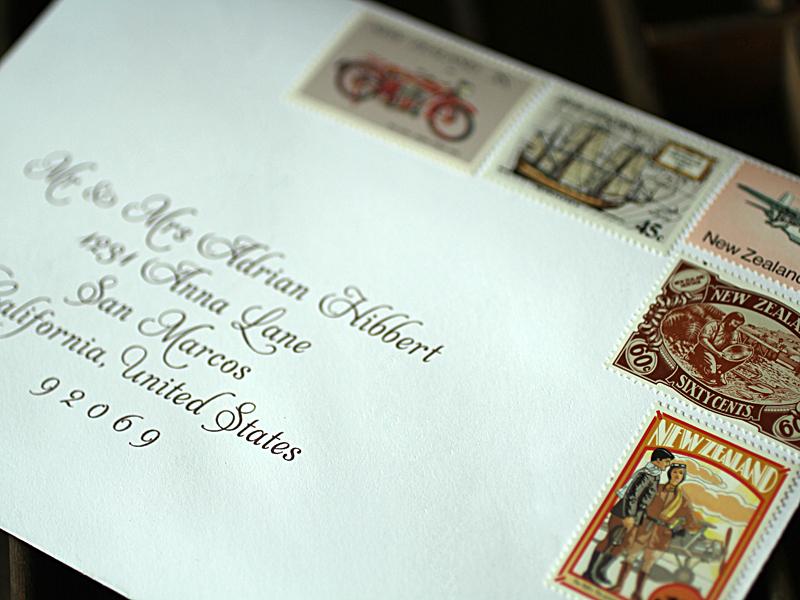 Red Wedding Invitations: envelopes for wedding invitations