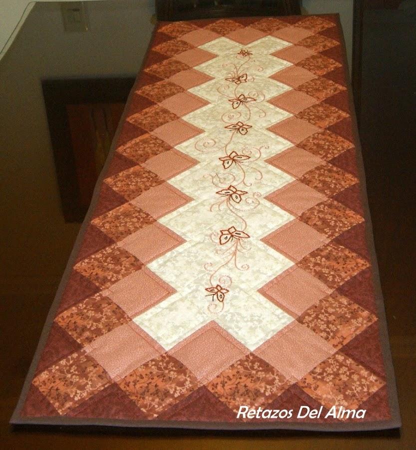 Patron paso a paso de camino de mesa - Camino mesa patchwork ...