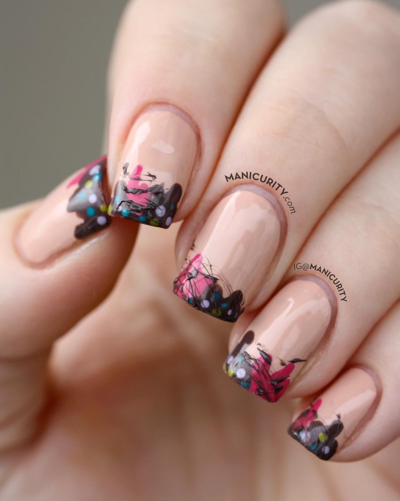 Manicurity | super cute Drippy Ice Cream Nails - with some Sugar-Spun Fudge!