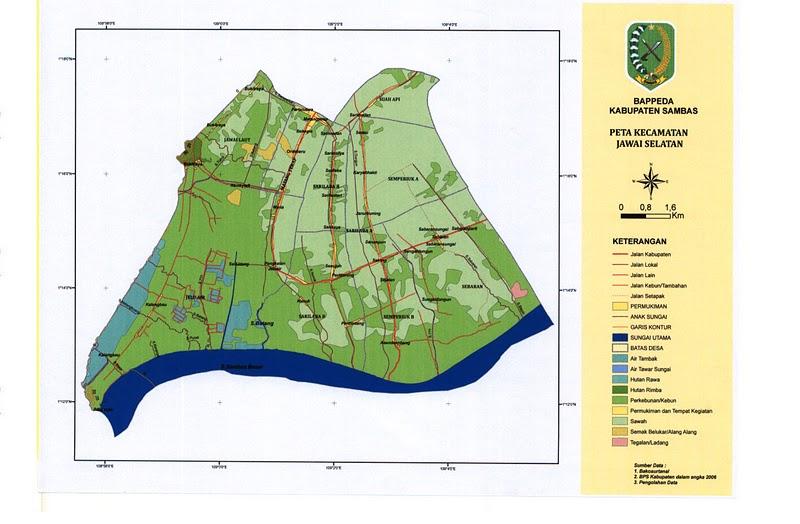 Peta Kecamatan Jawai Selatan
