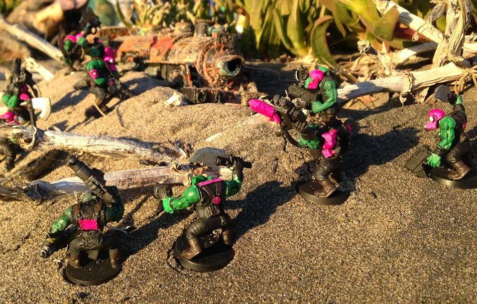 Battle Gaming One Dakka Chugga Looted Wagon Pink Orks Lionel Warhammer 40K