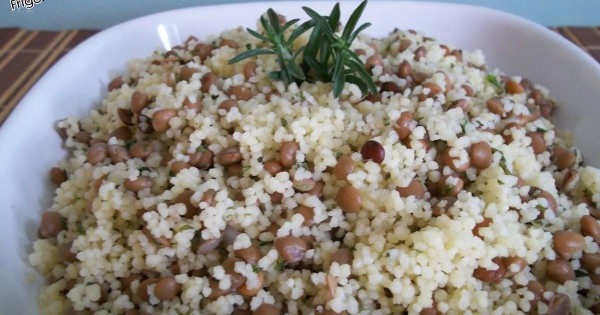 Dans mon frigo salade de lentilles et semoule de bl for 750g dans mon frigo