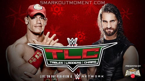 WWE TLC 2014 Seth Rollins vs John Cena tables match