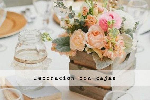 Cosas de la abuela 10 ideas para decorar tu boda con - Como decorar cajas de madera para centros de mesa ...