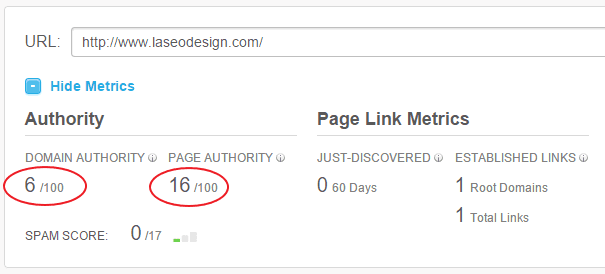 فحص PAGE AUTHORITY و DOMAIN AUTHORITY