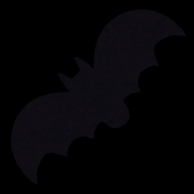 ハロウィンのマーク「コウモリ ... : 影絵 動物 : すべての講義