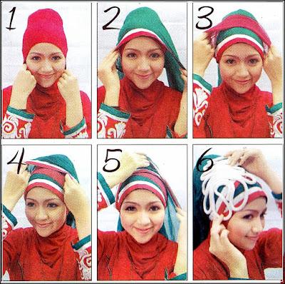 Cara pemakaian jilbab