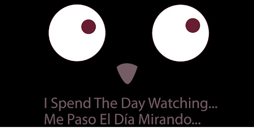 I SPEND THE DAY WATCHING/ ME PASO EL DIA MIRANDO