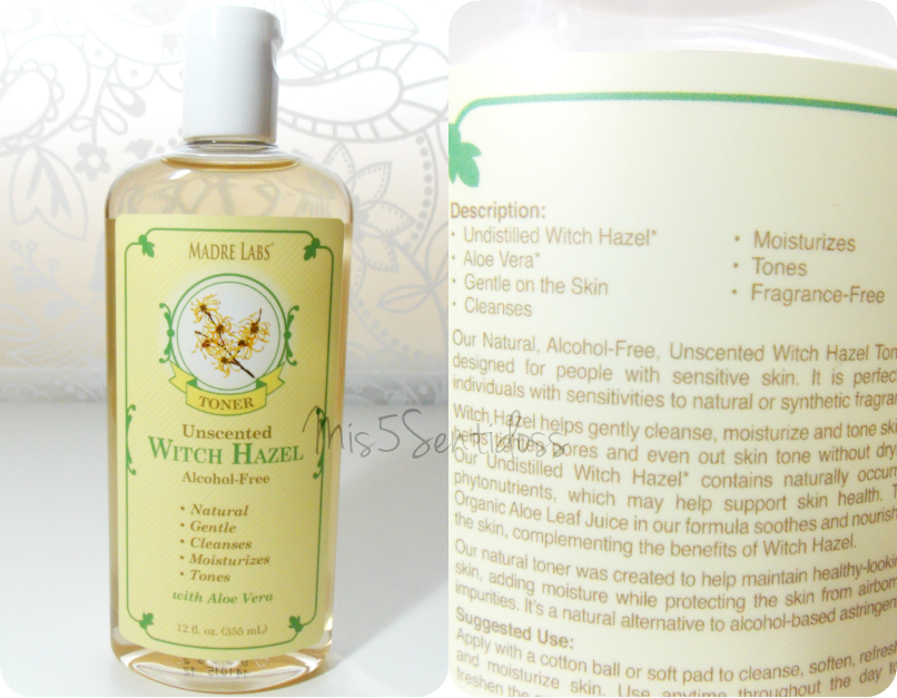 Tónico facial, Witch Hazel de Madre Labs