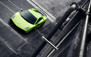 Cool Lemon Green Lamborghini Gallardo HD Wallpaper