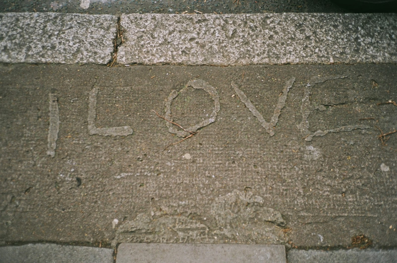 CONCRETE, GRAFFITI, LOVE, VESTIGIAL LETTERING, HAMPSTEAD, STREET ART, URBAN MESSAGES, SUBVERSION, © VAC 100 DAYS 4 MILLION CONVERSATIONS