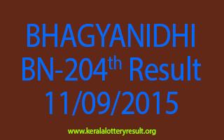 BHAGYANIDHI BN 204 Lottery Result 11-9-2015