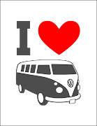 1 new print: I heart VW buses. I figured I could squeeze one more use out of .