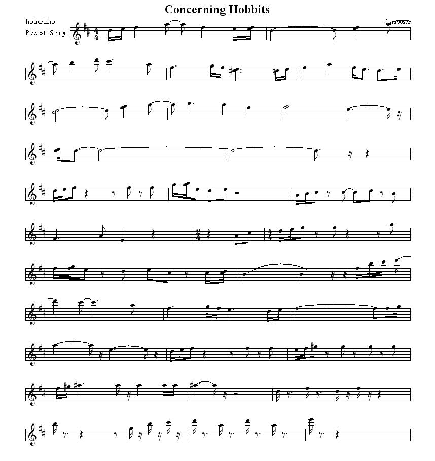 All Music Chords : lord of the rings orchestra sheet music Lord Of ...