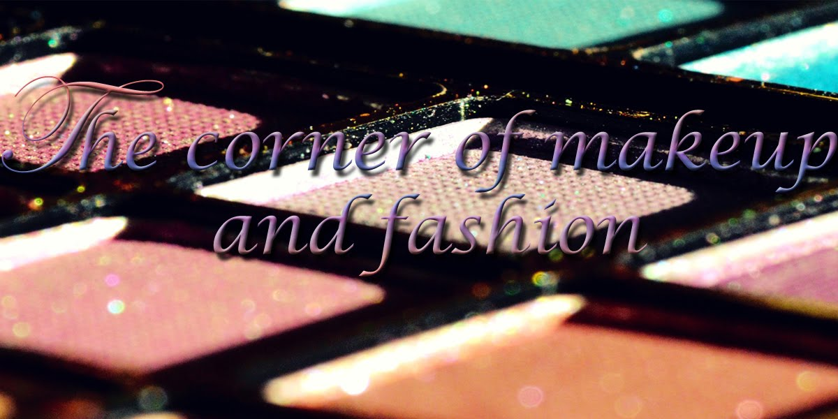 The corner of makeup and fashion