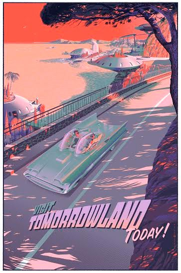 """Visit Tomorrowland Today"" Metallic Variant Screen Print by Laurent Durieux"