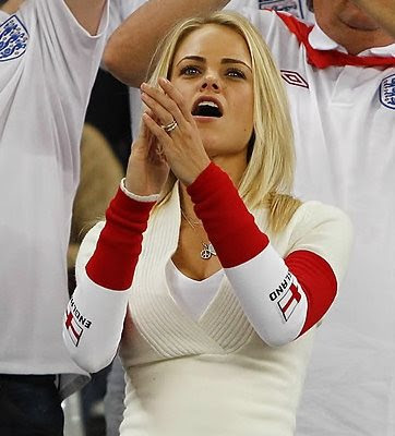 England girls fans Euro 2012