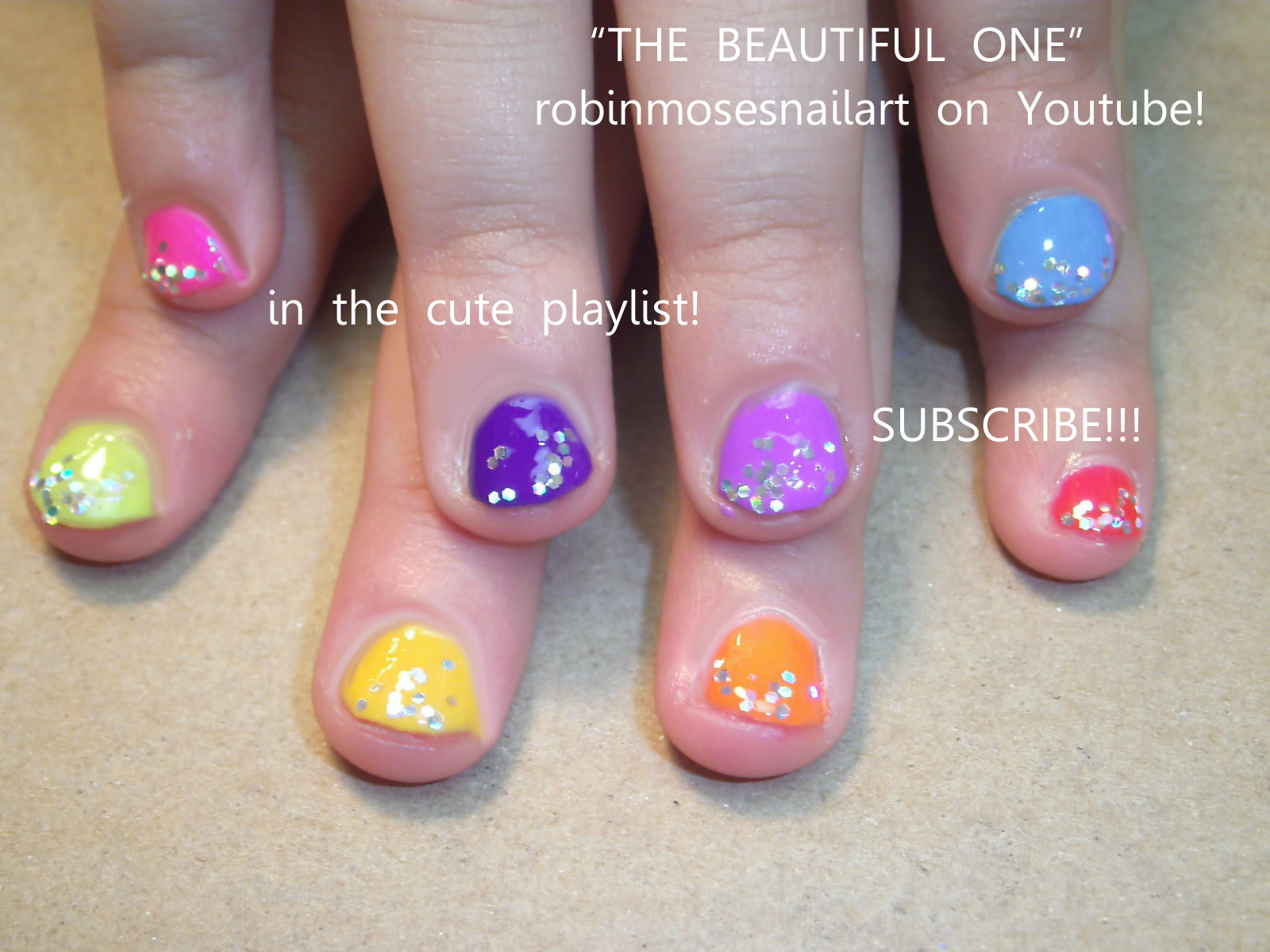 cute nail designs for little girls