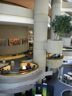 Inside the Renaissance Center in downtown Detroit, Michigan