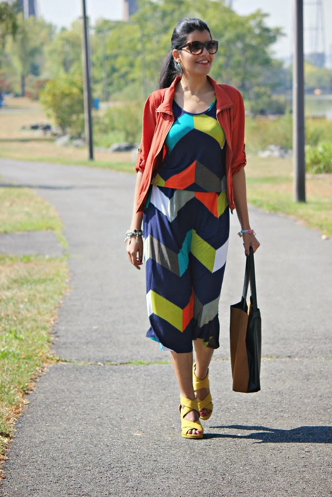 Chevron Stripe Maxi, Fall Dresses