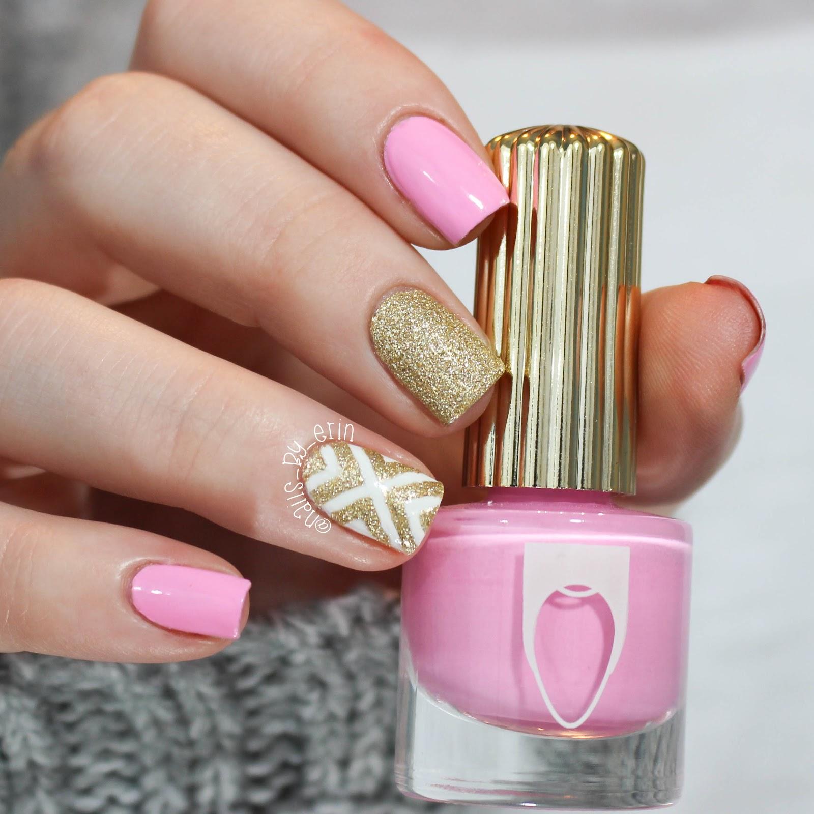 pink and gold nails – ledufa